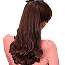 billiga Kroppssmycken-Hårförlängning med mikroring Vågigt Syntetiskt hår Hårstycke HÅRFÖRLÄNGNING Svart Mörkbrun Jordgubbsblont Medium Rödbrun Mörk Rödbrun