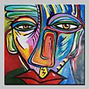 Χαμηλού Κόστους Αφηρημένοι Πίνακες-Hang-ζωγραφισμένα ελαιογραφία Ζωγραφισμένα στο χέρι - Αφηρημένο Κλασσικό Με Πλαίσιο / Επενδυμένο καμβά