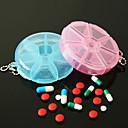 ราคาถูก ที่จัดเก็บของในครัว-ประโยชน์กล่องยาแบบพกพา 7 วันยาเม็ดวิตามินปลอดภัยกรณีช่องขนาดใหญ่ (สี ramdon)