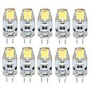 Χαμηλού Κόστους LED Bi-pin Λαμπτήρες-3 W LED Φώτα με 2 pin 300-350 lm G4 T 1 LED χάντρες COB Αδιάβροχη Διακοσμητικό Θερμό Λευκό Ψυχρό Λευκό Φυσικό Λευκό 12 V / 10 τμχ / RoHs / CE