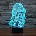 baratos Iluminação Noturna & Decoração-1 Pça. Luz noturna 3D Decorativa LED