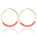 ราคาถูก ตุ้มหู-สำหรับผู้หญิง Drop Earrings ต่างหูแบบห่วง แฟชั่น ต่างหู เครื่องประดับ ฟ้า / สีชมพู / สายรุ้ง สำหรับ งานแต่งงาน 1pc