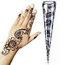 billiga Temporära färger-1 pcs Hennatuber tillfälliga tatueringar Ogiftig / Stor storlek / Stam Body art Ansikte / händer