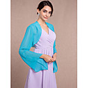 cheap Wedding Wraps-Long Sleeve Chiffon Wedding / Party Evening Women's Wrap With Scales Shrugs