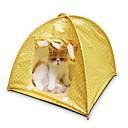 Χαμηλού Κόστους Γάτα Κρεβάτια & Αντικείμενα μεταφοράς-Σκηνή / Καθημερινά Ρούχα για σκύλους Κρεβάτια Πουά Κίτρινο / Πράσινο / Ροζ Γάτα