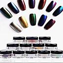 Χαμηλού Κόστους νυχιών Glitter-12pcs Γκλίτερ Για Νύχι Χεριού Νύχι Ποδιού τέχνη νυχιών Μανικιούρ Πεντικιούρ Glitters / Κλασσικό / Κομψό & Μοντέρνο Καθημερινά