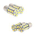 billiga LED-lampor för bil-4x vit 1156 BA15s ledde 27-SMD glödlampor svans backup rv husbil 1141