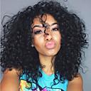 povoljno Praktični poklončići-Ljudska kosa Lace Front Perika stil Brazilska kosa Kovrčav Perika 130% Gustoća kose s dječjom kosom Prirodna linija za kosu Afro-američka perika 100% rađeno rukom Žene Kratko Srednja dužina Dug