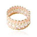 baratos Pulseiras-Mulheres Bracelete Imitação de Pérola Pulseira de jóias Branco / Rosa Para Casamento Festa Diário Casual