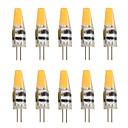 Χαμηλού Κόστους Κορνίζες Υπογραφών & Πιατέλες-10pcs 2 W LED Φώτα με 2 pin 200-250 lm G4 T 1 LED χάντρες COB Διακοσμητικό Θερμό Λευκό Ψυχρό Λευκό 12 V / 10 τμχ