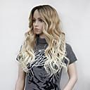 Χαμηλού Κόστους Συνθετικές περούκες χωρίς σκουφί-Συνθετικές Περούκες Κυματιστό Μέσο μέρος Περούκα Ξανθό Μακρύ Ξανθό Συνθετικά μαλλιά Γυναικεία Ανθεκτικό στη Ζέστη Μαλλιά με ανταύγειες Ξανθό