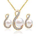 povoljno Komplet nakita-Žene Svadbeni nakit Setovi Moda Naušnice Jewelry Zlato Za Vjenčanje Party