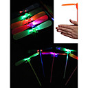 billiga Spargrisar-LED-belysning Bamboo Copter Dragonfly Belysning Plast Vuxna Leksaker Present