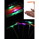 billiga Lys upp leksaker-LED-belysning Bamboo Copter Dragonfly Belysning Plast Vuxna Leksaker Present
