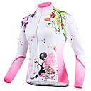povoljno Biciklističke majice-TVSSS Žene Dugih rukava Biciklistička majica Uglađeni Cvjetni / Botanički Bicikl Majice Prozračnost Sportski Zima Coolmax® Terilen Likra Odjeća / Visoka elastičnost