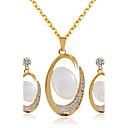 Χαμηλού Κόστους Σετ Κοσμημάτων-Γυναικεία Νυφικό κόσμημα σετ Σκουλαρίκια Κοσμήματα Χρυσό Για Γάμου Πάρτι