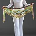 Χαμηλού Κόστους Αξεσουάρ Χορού-Αξεσουάρ Χορού Σάλι για Χορό της Κοιλιάς Γυναικεία Επίδοση Κρεπ Παγιέτες Χαμηλή Μέση Φουλάρι Γοφών για Χορό της Κοιλιάς / Χορός της κοιλιάς