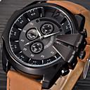 ราคาถูก นาฬิกากีฬา-สำหรับผู้ชาย นาฬิกาแนวสปอร์ต นาฬิกาทหาร นาฬิกาข้อมือ นาฬิกาอิเล็กทรอนิกส์ (Quartz) ที่มีขนาดใหญ่ หนัง ดำ / ฟ้า / น้ำตาล ปฏิทิน เท่ห์ Punk ระบบอนาล็อก วินเทจ ไม่เป็นทางการ แฟชั่น - กาแฟ สีน้ำตาล ฟ้า