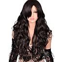 Χαμηλού Κόστους Προμήθειες Πάρτι Halloween-Συνθετικές Περούκες Φυσικό Κυματιστό Kardashian Στυλ Πλευρικό μέρος Χωρίς κάλυμμα Περούκα Σκούρο Καφέ Σκούρο καφέ Συνθετικά μαλλιά Γυναικεία Μοντέρνα / Με τα Μπουμπούκια Σκούρο Καφέ Περούκα Μακρύ