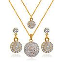 povoljno Komplet nakita-Žene Svadbeni nakit Setovi Naušnice Jewelry Zlatan Za Vjenčanje