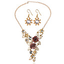 povoljno Komplet nakita-Žene Svadbeni nakit Setovi Naušnice Jewelry Zlato Za Vjenčanje Party