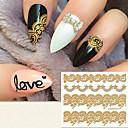billige Overføringsklistremerker til neglekunst-1 pcs 3D Negle Stickers Neglekunst Manikyr pedikyr Mote Daglig / 3D Nail Stickers