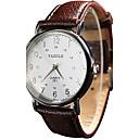 ราคาถูก นาฬิกาข้อมือแฟชั่น-YAZOLE สำหรับผู้หญิง สำหรับคู่รัก นาฬิกาข้อมือ นาฬิกาอิเล็กทรอนิกส์ (Quartz) PU Leather ดำ / สีขาว / แดง นาฬิกาใส่ลำลอง เท่ห์ / ระบบอนาล็อก สุภาพสตรี วินเทจ ไม่เป็นทางการ - สีดำ สีน้ำตาล ขาว