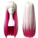 billiga Moduler-Syntetiska peruker Kostymperuker Rak Rak Peruk Rosa Lång Rosa Syntetiskt hår Dam Rosa