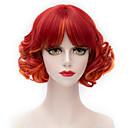 billige Syntetiske parykker uten hette-Syntetiske parykker Med lugg Parykk Kort Rød Syntetisk hår Dame Rød