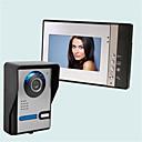 billiga Videoporttelefonsystem-trådbunden multifamily video dörrklocka 7 tum handhållen 30 pixlar en till fyra videodörrtelefoner till