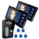 billige Dørtelefonssystem med video-Ennio berøre tast 7 lcd fingeravtrykk video dør telefon intercom system wth tilgangskontroll med fingeravtrykk en kamera to monitor