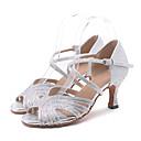 Χαμηλού Κόστους Παπούτσια τζαζ-Γυναικεία Παπούτσια Χορού Λαμπυρίζον Γκλίτερ Παπούτσια χορού λάτιν / Παπούτσια σάλσα Τεχνητό διαμάντι / Αστραφτερό Γκλίτερ / Αγκράφα Πέδιλα / Τακούνια Τακούνι καμπάνα Εξατομικευμένο / Επίδοση / Δέρμα
