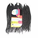 billiga Hårflätor-Hår till flätning Senegal twist Flätor Hårförlängningar av äkta hår 100% kanekalon hår Kanekalon 81 rötter Hårflätor Dagligen