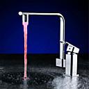 billiga LED-duschhuvuden-ledde vattenstänk temperaturkontroll vattenflödet genererar temperatur av tre färger ljus (abs galvanisering)