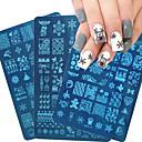 billiga Nagelstämpling-1 pcs Stämpelplatta Mall Moderiktig design nagel konst manikyr Pedikyr Stilig / Mode Dagligen / Rostfritt stål / stämpling Plate