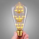 ราคาถูก หลอดไฟ-1pc 3 W หลอดไฟLED Filament 200 lm E26 / E27 ST64 47 ลูกปัด LED COB ตกแต่ง แจ่มจรัส ตกแต่งงานแต่งงานในเทศกาลคริสต์มาส ขาวนวล 220-240 V / RoHs