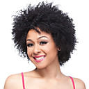 billiga Syntetiska peruker utan hätta-Syntetiska peruker Lockigt Afro Lockigt Afro Peruk Korta Svart Syntetiskt hår Dam Afro-amerikansk peruk Svart