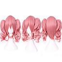 ราคาถูก วิกผมคอสตูม-วิกผมสังเคราะห์ วิกคอสตูม Straight ตรง กับหางม้า ผมปลอม สีชมพู Pink สังเคราะห์ สำหรับผู้หญิง สีชมพู hairjoy