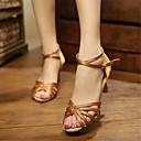 povoljno Cipele za latino plesove-Žene Plesne cipele Saten Cipele za latino plesove / Cipele za salsu Štikle Potpetica po mjeri Moguće personalizirati Plava / Badem / Crvena / EU41