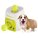 billiga Kattleksaker-Boll Tuggleksaker Interaktivt Tennisboll Hundleksak Husdjur Leksaker 1st Matautomat Tennisboll Plast Present