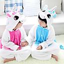 ราคาถูก ชุดนอน Kigurumi-สำหรับเด็ก Kigurumi Pajama Unicorn รูปสัตว์ Onesie Pajama ผ้าสักหลาด ผ้าขนแกะ ฟ้า / สีชมพู คอสเพลย์ สำหรับ เด็กชายและเด็กหญิง สัตว์ชุดนอน การ์ตูน Festival / Holiday เครื่องแต่งกาย
