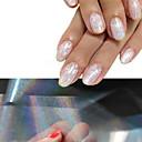 povoljno folija Papir-4 pcs 3D Nail Naljepnice nail art Manikura Pedikura glitters / Moda Dnevno / 3D naljepnice za nokte