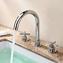ราคาถูก ก๊อกอ่างล้างหน้าในห้องน้ำ-ก๊อกน้ำอ่างล้างจานห้องน้ำ - กระจาย มีสี กระจาย จับสองสามหลุมBath Taps
