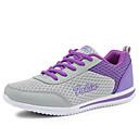 ราคาถูก รองเท้ากีฬาสำหรับสตรี-สำหรับผู้หญิง รองเท้าผ้าใบ ส้นแบน / Platform ลูกไม้ขึ้น ทูเล่ ความสะดวกสบาย วสำหรับเดิน ฤดูใบไม้ผลิ / ฤดูร้อน / ตก สีเทา / สีม่วง / ฟ้า / EU39