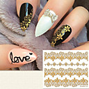 billiga Nagel stickers-1 pcs 3D Nagelstickers nagel konst manikyr Pedikyr Mode Dagligen / 3D Nail Stickers