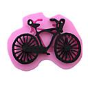 povoljno Prozorske zavjese-silikon bicikl oblik torta plijesni torta uređenje alata čokolada kalupi