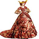 Χαμηλού Κόστους Στολές της παλιάς εποχής-Rococo Victorian 18ος αιώνας Φορέματα Κοστούμι πάρτι Χορός μεταμφιεσμένων Γυναικεία Δαντέλα Δαντέλα Βαμβάκι Στολές Χρυσό / Κόκκινο Πεπαλαιωμένο Cosplay Πάρτι Χοροεσπερίδα / Φλοράλ / Καπέλο