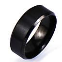 povoljno Muško prstenje-Muškarci Band Ring Crn Legura Circle Shape Personalized Punk Rock Božićni pokloni Dnevno Jewelry
