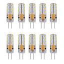 billige Signaturrammer og fat-10pcs 1 W LED-lamper med G-sokkel 460 lm G4 Tube 24 LED perler SMD 3014 Dekorativ Varm hvit Kjølig hvit 12 V / 10 stk. / RoHs