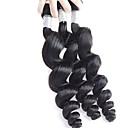 billiga Nagelstämpling-3 paket Brasilianskt hår Löst vågigt Obehandlad hår Human Hår vävar Hårförlängning av äkta hår Människohår förlängningar / 10A